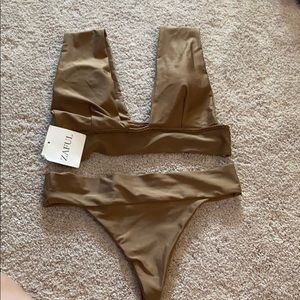 Zaful Bronze Bathing Suit